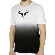 Nike Nadal Premier Rafa Icon T-Shirt Tee White Black New 658163-102 New M