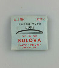 VINTAGE BULOVA PRESS TYPE DOME WATCH CRYSTAL - 28.8mm - PART# 1126E-5