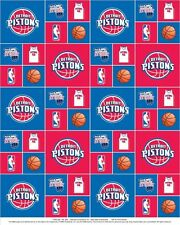 Cotton Detroit Pistons NBA Basketball Sports Team Cotton Fabric Print D665.01