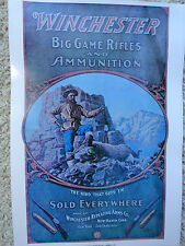 Winchester Firearms,Big Game Rifles,Advertising Poster,Goodwin??
