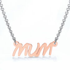 Stainless Steel Highly Polished Rose Gold Plated Mum Pendant