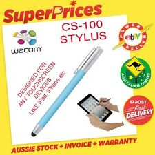 WACOM◉BAMBOO STYLUS SOLO PEN CS-100 BLUE◉APPLE iPAD/iPHONE/SAMSUNG KINDLE NEXUS◉