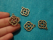 10 celtic knot pendants charms bronze antique jewellery making wholesale UK