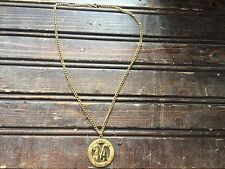 Shaquille Oneil SHAQ Gold Tone Necklace NBA #34