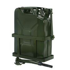 5 Gallon 20L Jerry Can Gas Fuel Army NATO Military Metal Steel Tank Holder NEW
