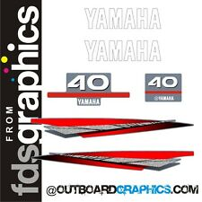 Yamaha 40hp outboard engine graphics/sticker kit