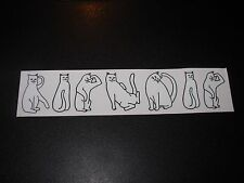 RIPNDIP Skate Sticker CAT LETTERS rip n dip skateboards helmets decal