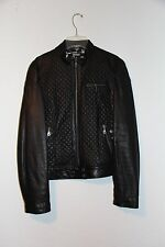 DKNY Quilted leather Leather Jacket Women Black M NWoT