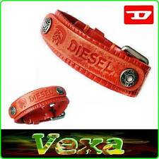 New Style DIESEL Leather Bracelet Orange Bangle Wristband Men's Women Surf BD21
