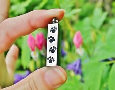 Cremation Jewelry Pendant Urn for Ashes 4 Paw Prints Paws Pet Dog Cat Memorial