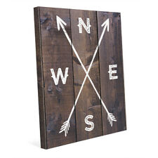 Directional Arrows on Wood Rustic 16x20 Canvas Wall Art Print NEW! PRICE REDUCED