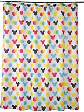 Disney Mickey Mouse Bath Polka-Dot Fabric Bathroom Shower Curtain, New