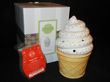 NEW Scentsy Ice Cream Cone Element Warmer & one scent bar -RETIRED & Beautiful!