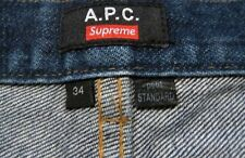 A.P.C. x Supreme Petit Standard Jeans - Custom Distress Job - sz 34
