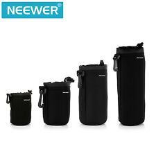 Neewer 4-Pack Protective Lens Neoprene Pouch Set (Black)