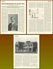 1920 Prof Sir Jc Bose Eminent Indian Scientist Plant Life Research Article