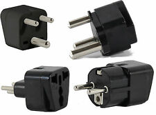 US to SOUTH AFRICA Travel Adapter Plug for Universal Type M N D E(C/F) AC 4 Pack
