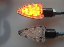 ►2X MOTO GUZZI V11 LeMans,V11 Naked,V11Scura,V75 LED MICRO BLINKER ARROW CARBON