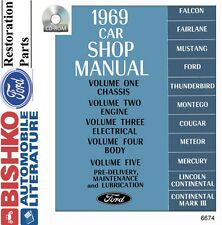 1969 Ford Lincoln Mercury Shop Service Repair Manual CD OEM Mechanic Guide