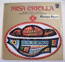 """33T MISA CRIOLLA LP 12"""" MESSE CHANTS RELIGIEUX FOLKLORIQUE ARGENTINE FRONTERIZOS"""