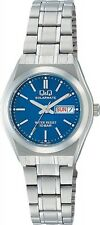 New CITIZEN Q&Q H011-222 SOLARMATE solarpower analog waterproof blue From Japan