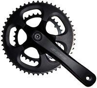 Suntour Compact Double Chainset Crankset 34/50T Road Racing Bike 175mm Black