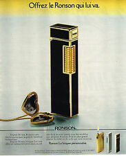 PUBLICITE ADVERTISING 015  1978  RONSON   briquet