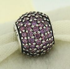 Authentic Pandora 791051CFP Purple Pave Lights Sterling Silver Bead Charm