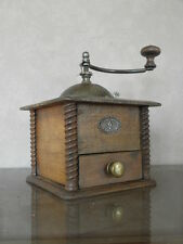 antique French Coffee Grinder mill mutzig framont Wood Chic Refined vintage rare