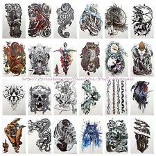 "20 sheets wholesale large 8.25"" temporary arm tattoo stickers wholesale"