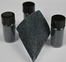 Nail Art Ultra Fine Micro Glitter Holographic Black 0.1mm 5 grams per pot