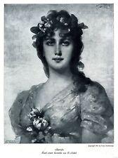 L' artista Nathaniel falciformi Seerose donne ritratto storico d'arte pressione 1913