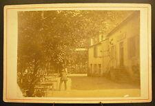 Photo c 1900 Café Restaurant des Malavaux  Photographie ancienne