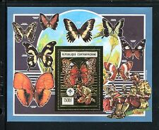 Central Africa 962b, MNH, Insects  Butterflies gold foil 1990. x25036