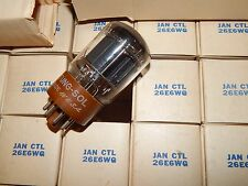 50 FIFTY PIECES 26E6WG 26 VOLT FIL 6L6 5932 5881 NOS NIB 1956 TUNGSOL TUBE 26E6