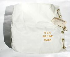 Vintage USN Air Line Mask Bag Jet Pilot Diving NAVY Ship Boat Military Surplus