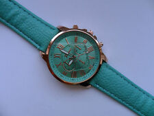 SALE  Very Smart Geneva Gold and Green Faced Quartz Watch Ice Green  Strap SALE