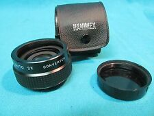 HANIMEX M42 PENTAX SCREW AUTO 2X CONVERTER WITH CASE