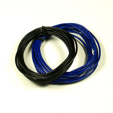 2 x Non-shielded Guitar Hookup Wire 6-Foot 22 AWG Blue and black