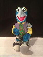 """RARE new LARGE 22"""" GONZO WITH HOT PEPPER TIE PLUSH THE MUPPETS NWT STUFFED TOY"""