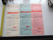 Esso Lubrication Service Schedules Cards Charts 1960s for Austin Morris Ford etc