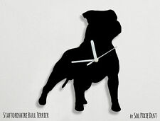 Staffordshire Bull Terrier Dog Silhouette - Wall Clock