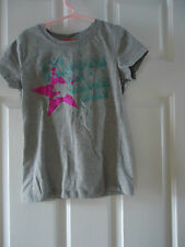 Girls I'M FAMOUS ON GAME DAY Gray SPARKLE T-Shirt Top Size Large 6