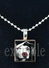 Pet Animal DOG Personalized Photo Custom Image Scrabble Necklace Charm Keychain