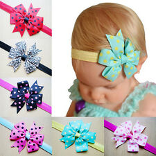 10pc/Lot Kid Girl Baby Toddler Infant Bowknot Headband Hair Bow Band Accessories