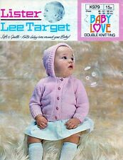 ~ Baby Knitting Pattern For Sweet Button-Up Hooded Jacket To Knit ~