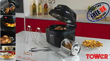 Tower 8L Digital Health Low Fat Multi Air Fryer Rotisserie Slow Cooker Fast Chip