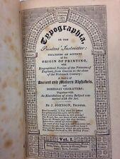 J Johnson's Typographia Printer's Instruction Typography 2 Vol. 1824