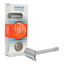 "4"" Merkur Solingen DE Shaving Safety Razor Polished Chrome Closed Comb Head 23C"