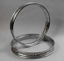 19 & 18  Inch HEAVY DUTY CHROME MOTORCYCLE Wheel Rim With 36 Spoke Holes